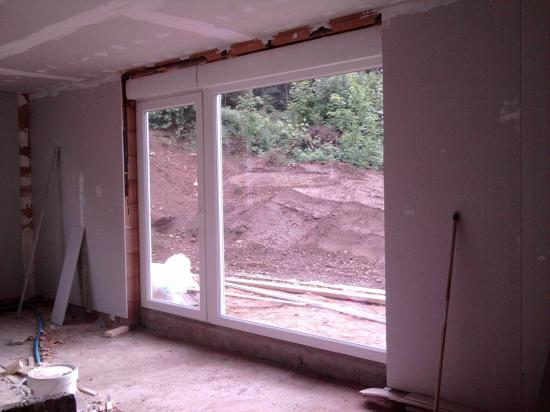 Baie vitrée salle de vie