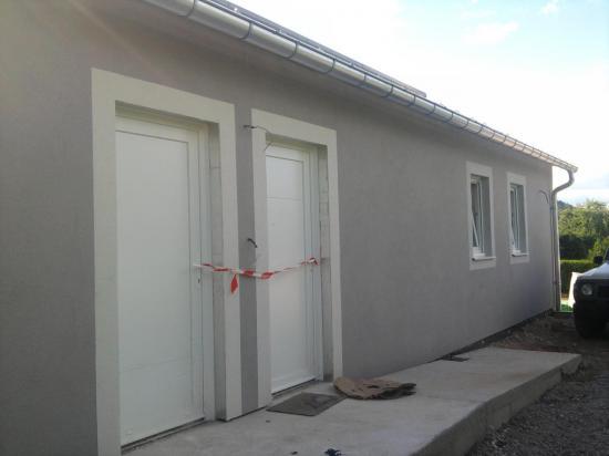 Crépi portes d'entrée